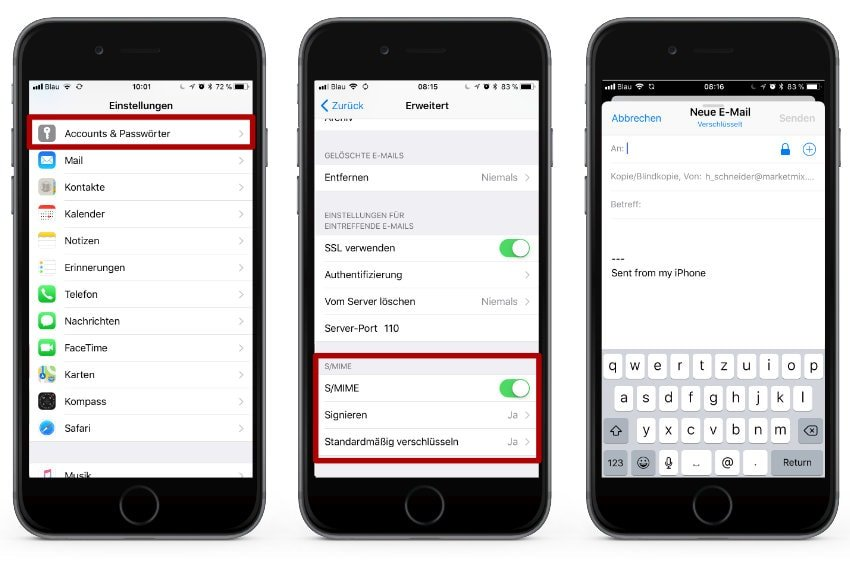 iOS: Mails auf dem iPhone und iPad verschlüsseln - marketmix.com
