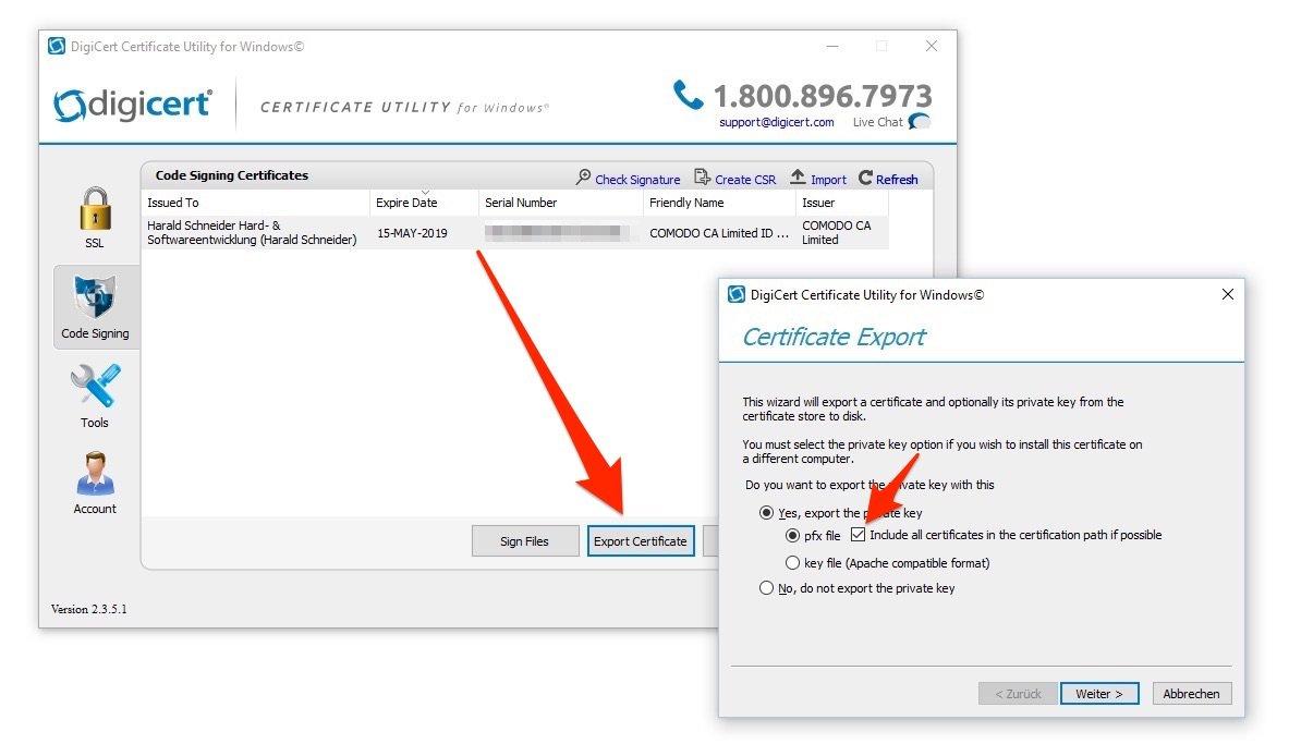 Windows Signtool Apps Mit Günstigem Ssl Zertifikat Sicher Code